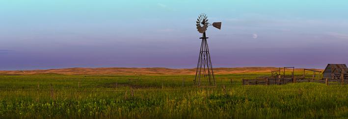 4 Seasons Western Nebraska Sand Hills Landscape With Windmill 845955970
