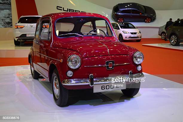 seat 600l on the motor show - fiat stock photos and pictures