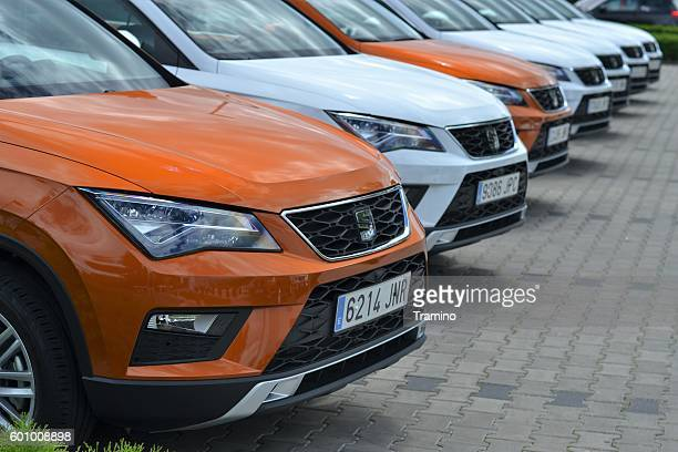 Seat Ateca SUV vehicles on the parking
