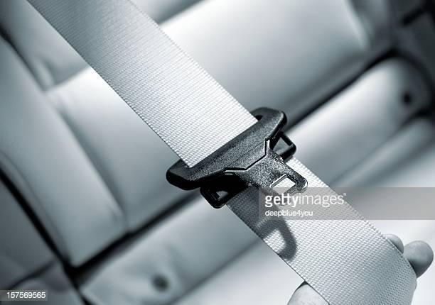 Cinturón de seguridad Interior del coche moderno primer plano
