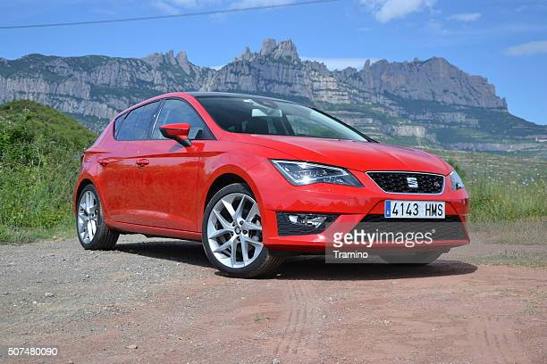 Seat Leon FR stopped on the road