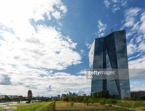 seat of the european central bank in frankfurt/ main, germany - seat of the european central bank stock photos and pictures
