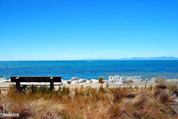 Seat on Marahau, Abel Tasman National Park, New Zealand
