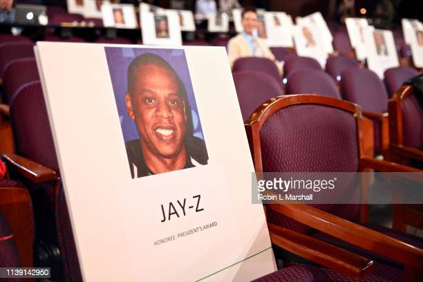 Seat Placement for Honoree JayZ at the 50th NAACP Image Awards Behind The Scenes Press Day 2 at Dolby Theatre on March 29 2019 in Hollywood California