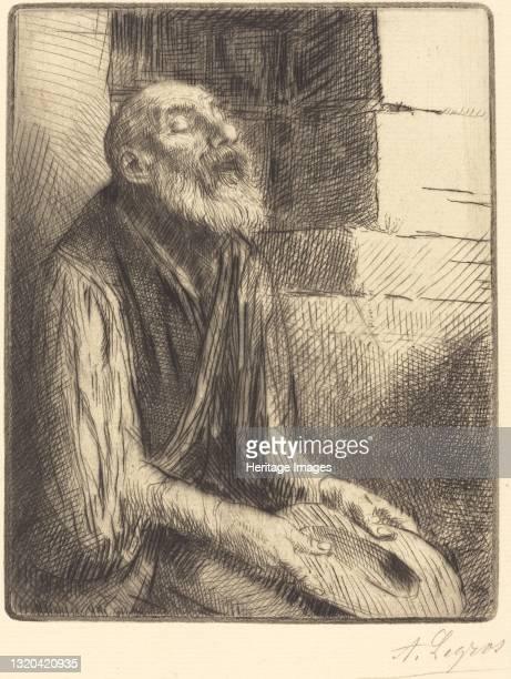 Seated Beggar . Artist Alphonse Legros.