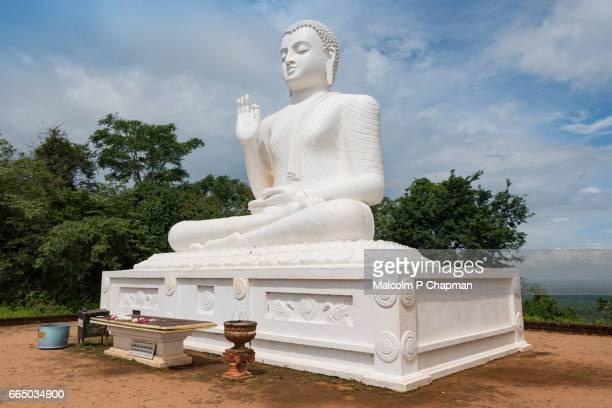 Seated Buddha statue, Mihintale, Anuradhapura, Cultural Triangle, Sri Lanka