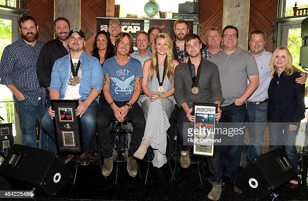 Seated CoWriter Jon Nite Singer/Songwriter Keith Urban CoWriters Nicolle Galyon and Jimmy Robbins Standing UMG's Royce Risser Sony/ATV Tree's Josh...