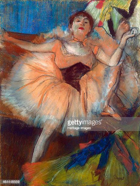 'Seated Dancer' 18791880 Degas Edgar Found in the collection of the State Hermitage St Petersburg
