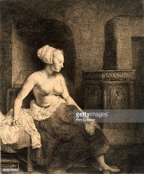 'Seated Female Nude' 1658 From a private collection