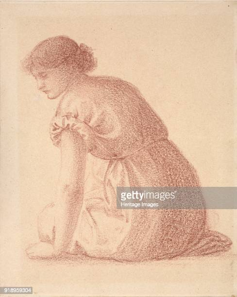 Seated Figure of a Woman late 19th century Dimensions height x width sheet 256 x 189 cm