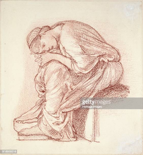 Seated Figure of a Woman late 19th century Dimensions height x width sheet 202 x 185 cm