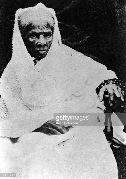 Seated portrait of American former slave and civil rights activist Harriet Tubman 1900s