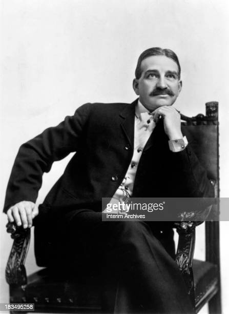 Seated portrait of L. Frank Baum , author of 'The Wonderful Wizard of Oz', circa 1910.