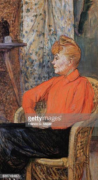Seated Woman Profile to the Left by Henri de ToulouseLautrec