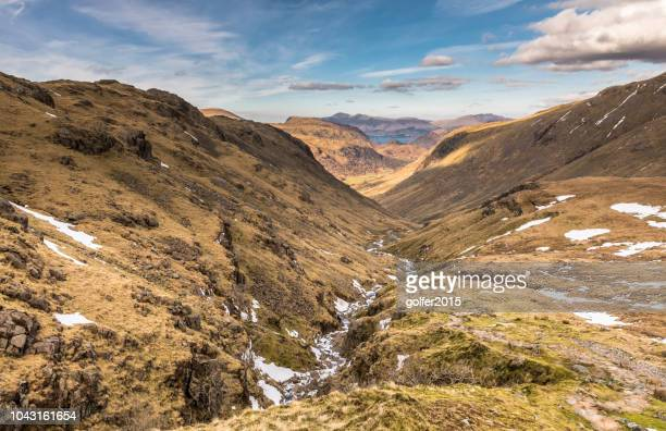 seathwaite valley - lake district - cumbria stock pictures, royalty-free photos & images