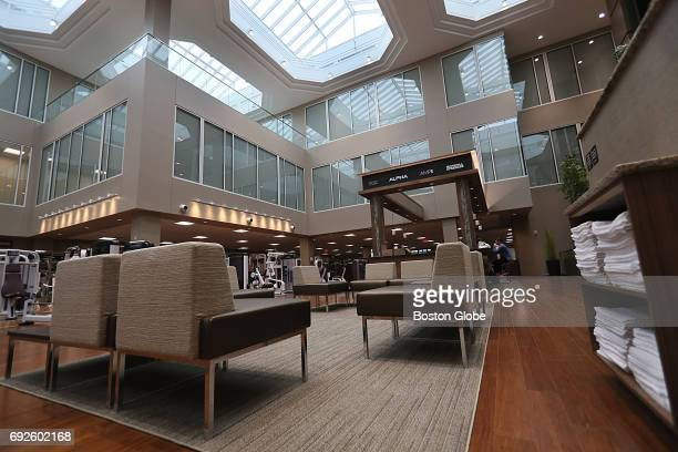 A seating area in the center of the main area of Life Time Center in Newton MA is pictured on May 31 2017 After years of operating as the Atrium mall...