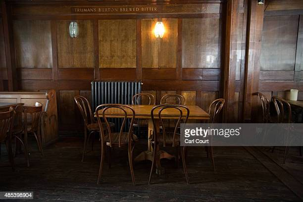 A seating area is pictured in the Royal Oak pub on Columbia Road on August 27 2015 in London England The Royal Oak pub was named as one of 21...