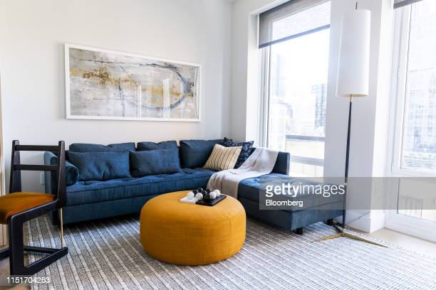 A seating area is seen in an apartment unit in the AvalonBay Communities Inc Park Loggia condominium at 15 West 61 Street in New York US on Wednesday...