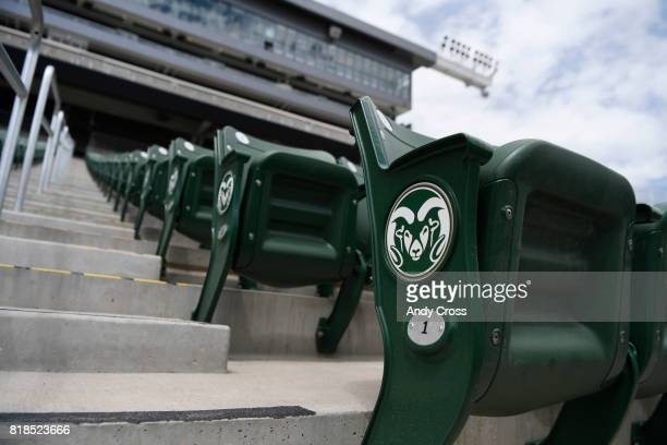 Seats are ready and in place at the new Colorado State University oncampus stadium July 18 2017