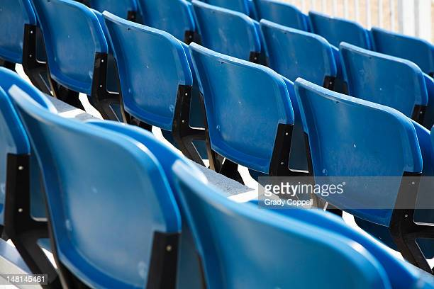 Seats in a sports stadium