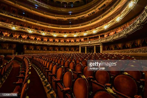 Seats of Teatro Colon stand empty as events have been cancelled due to COVID-19 pandemic on April 23, 2020 in Buenos Aires, Argentina. Stagecraft...