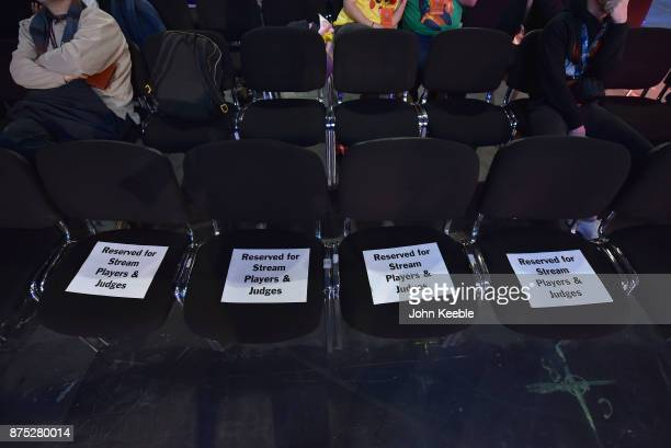 Seats reserved at the Pokemon European International Championships at ExCel on November 17 2017 in London England Thousands of competitors from...