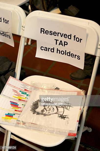 Seats reserved for TAP card holders at the 'Who Framed Roger Rabbit' special screening during the 2015 Los Angeles Film Festival at Union Station on...