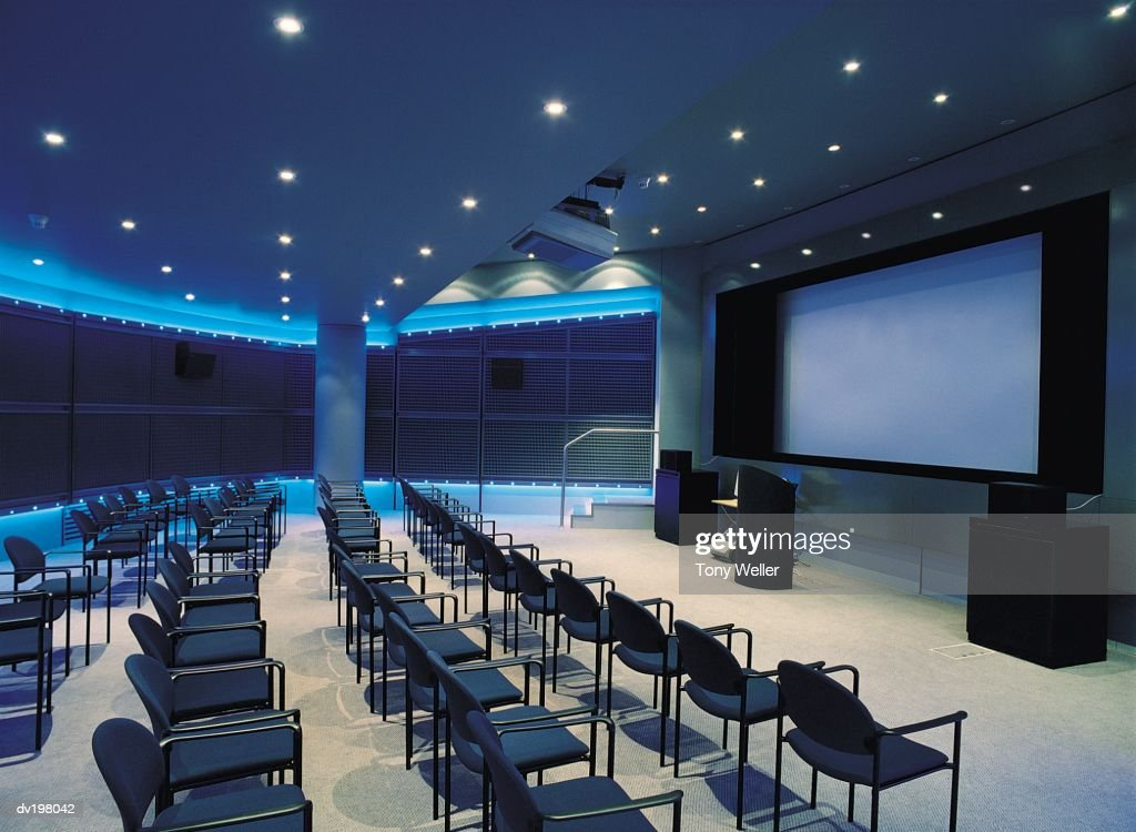 Seats set up for presentation : Stock Photo