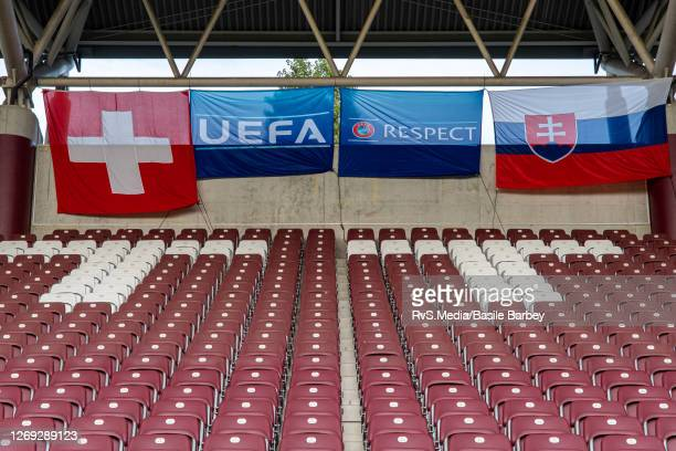 Seats will remain empty for the game due to the Covid-19 restrictions for the UEFA Europa League qualification match between Servette FC and MFK...