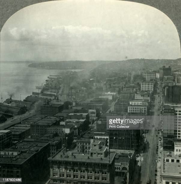 Seattle and Puget Soungd from the Smith Building Washington' circa 1930s From Tour of the World [Keystone View Company Meadville Pa New York Chicago...
