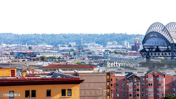 """seattle and safeco field stadium - """"peeter viisimaa"""" or peeterv stock pictures, royalty-free photos & images"""
