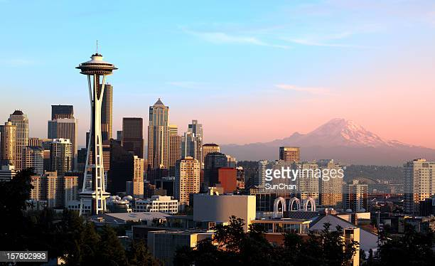 Seattle al atardecer