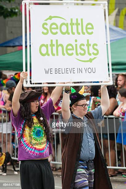 seattle atheists - atheism stock photos and pictures