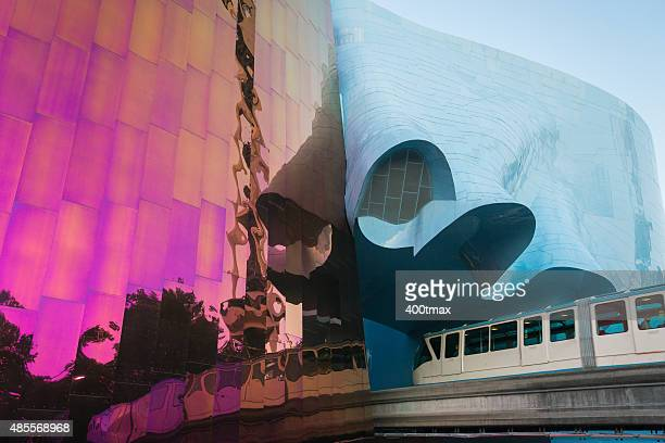 seattle center - monorail stock pictures, royalty-free photos & images