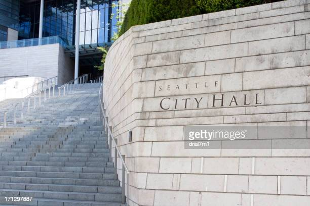seattle city hall - town hall stock pictures, royalty-free photos & images
