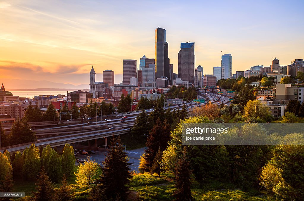 Seattle, Dr Jose P Rizal Bridge, Washington, America : Foto stock