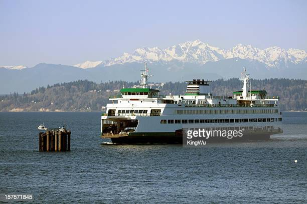 seattle ferry - puget sound stock pictures, royalty-free photos & images