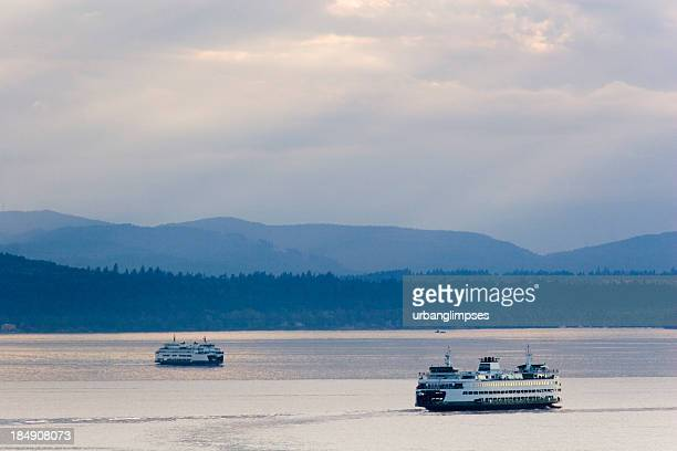 seattle ferry transportation - puget sound stock pictures, royalty-free photos & images