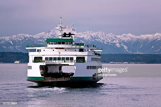 seattle ferry travel - ferry stock photos and pictures