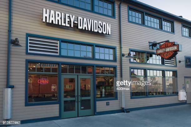 seattle harley davidson - harley davidson stock pictures, royalty-free photos & images