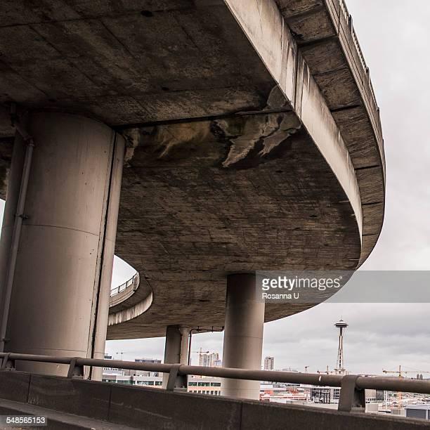 seattle highway, seattle, usa - seattle center stock-fotos und bilder