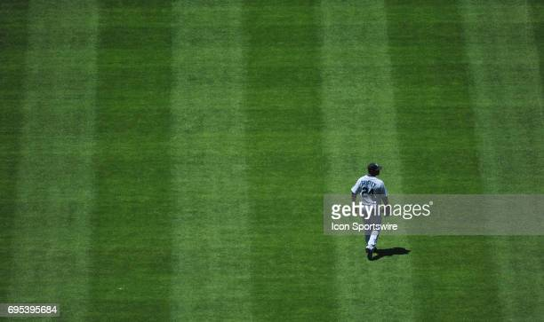 Seattle Mariners 24 Ken Griffey Jr during a Major League Baseball game between the Seattle Mariners and the Los Angeles Dodgers at Dodger Stadium in...