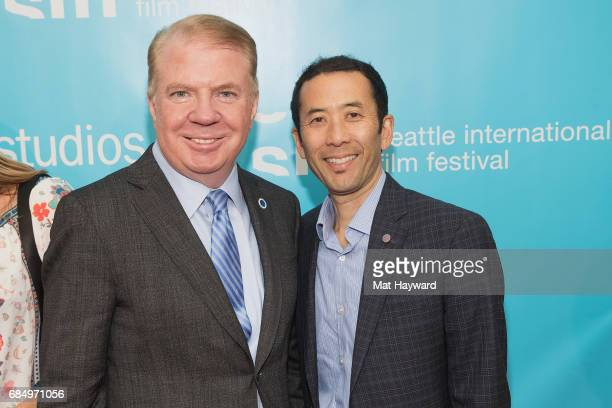 Seattle Mayor Ed Murray and his husband Michael Shiosaki attend the 43rd Seattle International Film Festival Opening Night at McCaw Hall on May 18...
