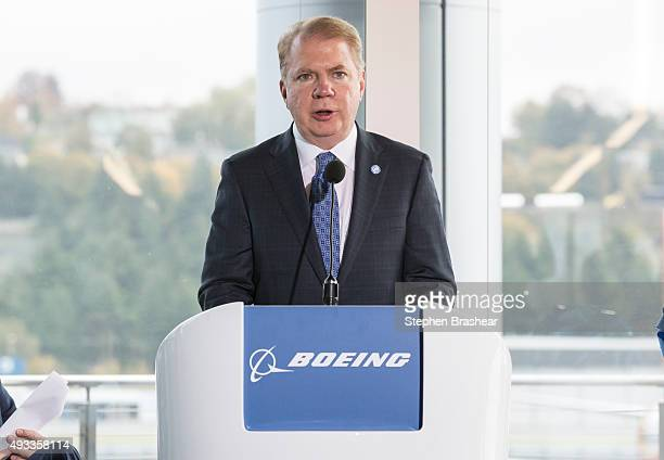 Seattle mayor Ed Murray speaks during the grand opening of the new Boeing 737 Delivery Center on October 19 2015 in Seattle Washington The larger...