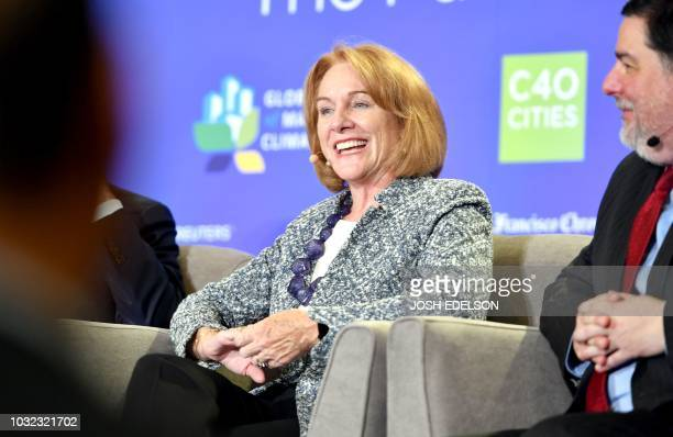 Seattle Mayor Jenni Durkan speaks during a panel discussion at the C40 Cities For Climate The Future Is Us kickoff event at San Francisco's City Hall...