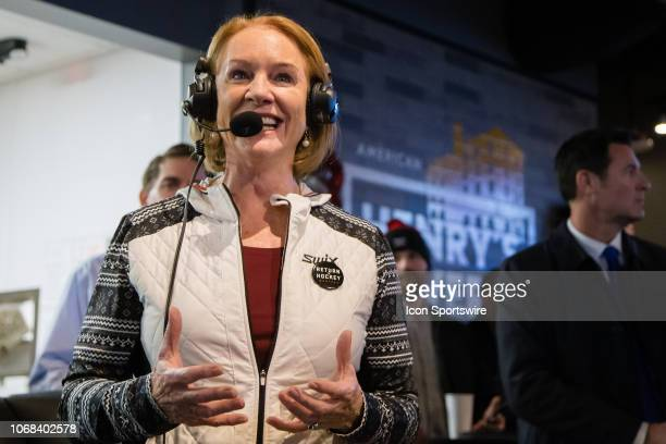 Seattle mayor Jenny Durkan addresses the crowd watching the announcement of Seattle becoming the National Hockey League's 32nd franchise through...