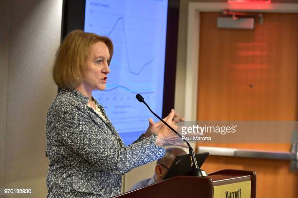 Seattle Mayor Jenny Durkan speaks at a session on Housing Affordbility the US Conference of Mayors on June 8, 2018 in Boston, Massachusetts.
