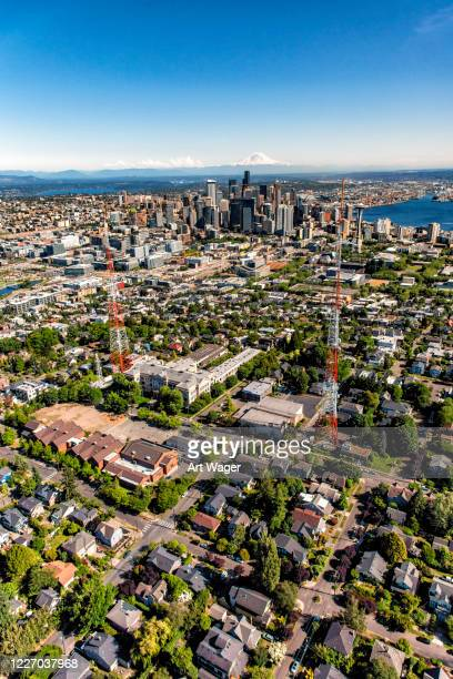 seattle metropolitan area - north pacific stock pictures, royalty-free photos & images