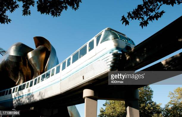 seattle monorail - monorail stock pictures, royalty-free photos & images