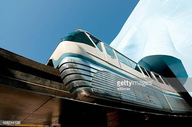 seattle monorail - seattle center stock-fotos und bilder